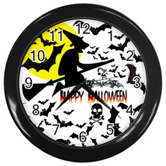 Happy Halloween Collage Wall Clock (black) by StuffOrSomething