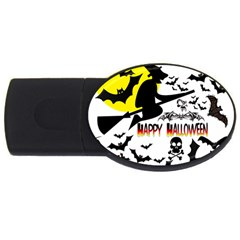 Happy Halloween Collage 2gb Usb Flash Drive (oval) by StuffOrSomething