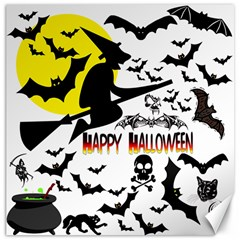 Happy Halloween Collage Canvas 12  X 12  (unframed) by StuffOrSomething