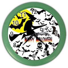Happy Halloween Collage Wall Clock (color) by StuffOrSomething
