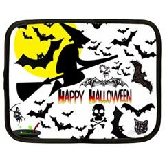 Happy Halloween Collage Netbook Sleeve (xxl) by StuffOrSomething