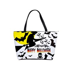 Happy Halloween Collage Large Shoulder Bag by StuffOrSomething