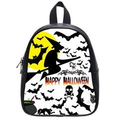 Happy Halloween Collage School Bag (small) by StuffOrSomething