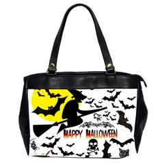 Happy Halloween Collage Oversize Office Handbag (two Sides) by StuffOrSomething