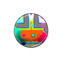 Crossroads Of Awakening, Abstract Rainbow Doorway  Golf Ball Marker 4 Pack (for Hat Clip) by DianeClancy