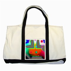 Crossroads Of Awakening, Abstract Rainbow Doorway  Two Toned Tote Bag by DianeClancy