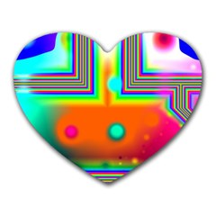 Crossroads Of Awakening, Abstract Rainbow Doorway  Mouse Pad (heart) by DianeClancy