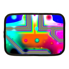 Crossroads Of Awakening, Abstract Rainbow Doorway  Netbook Sleeve (medium) by DianeClancy