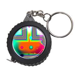 Crossroads Of Awakening, Abstract Rainbow Doorway  Measuring Tape by DianeClancy