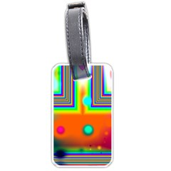 Crossroads Of Awakening, Abstract Rainbow Doorway  Luggage Tag (two Sides) by DianeClancy