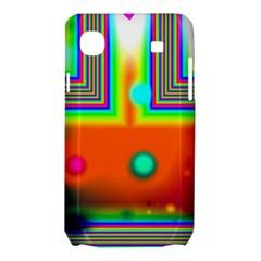Crossroads Of Awakening, Abstract Rainbow Doorway  Samsung Galaxy SL i9003 Hardshell Case by DianeClancy