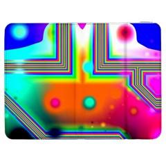 Crossroads Of Awakening, Abstract Rainbow Doorway  Samsung Galaxy Tab 7  P1000 Flip Case by DianeClancy