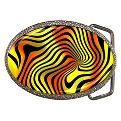 Colored Zebra Belt Buckle (oval) by Colorfulart23