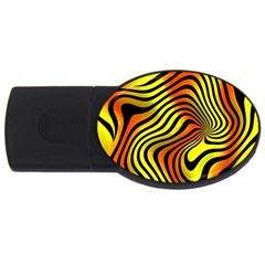 Colored Zebra 2gb Usb Flash Drive (oval) by Colorfulart23