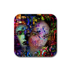 Artistic Confusion Of Brain Fog Drink Coasters 4 Pack (square) by FunWithFibro