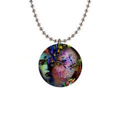 Artistic Confusion Of Brain Fog Button Necklace by FunWithFibro