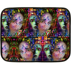 Artistic Confusion Of Brain Fog Mini Fleece Blanket (two Sided) by FunWithFibro