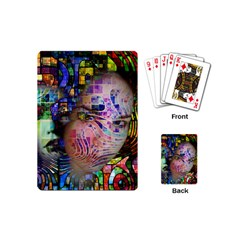 Artistic Confusion Of Brain Fog Playing Cards (mini) by FunWithFibro