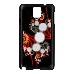 Mysterious Dance In Orange, Gold, White In Joy Samsung Galaxy Note 3 N9005 Case (black) by DianeClancy