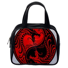 Yin Yang Dragons Red And Black Classic Handbag (one Side) by JeffBartels