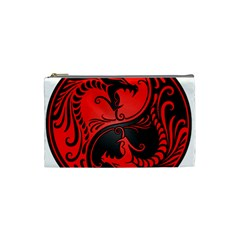 Yin Yang Dragons Red And Black Cosmetic Bag (small) by JeffBartels