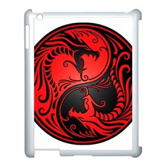Yin Yang Dragons Red And Black Apple Ipad 3/4 Case (white) by JeffBartels
