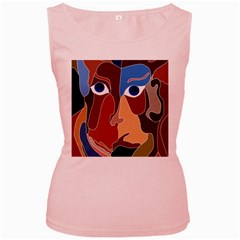 Abstract God Women s Tank Top (Pink) by AlfredFoxArt