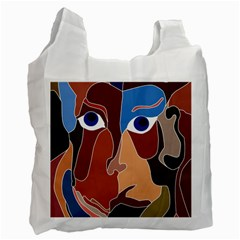Abstract God White Reusable Bag (one Side) by AlfredFoxArt