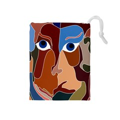 Abstract God Drawstring Pouch (medium) by AlfredFoxArt