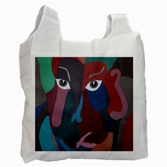 Abstract God Pastel White Reusable Bag (one Side) by AlfredFoxArt
