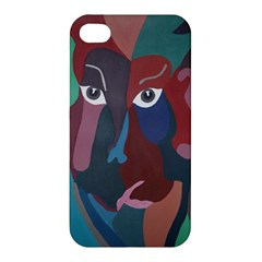Abstract God Pastel Apple Iphone 4/4s Premium Hardshell Case by AlfredFoxArt