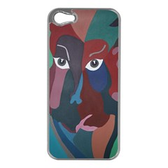 Abstract God Pastel Apple Iphone 5 Case (silver) by AlfredFoxArt