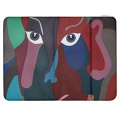 Abstract God Pastel Samsung Galaxy Tab 7  P1000 Flip Case by AlfredFoxArt