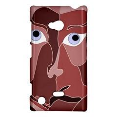 Abstract God Lilac Nokia Lumia 720 Hardshell Case by AlfredFoxArt