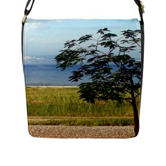 Sea Of Galilee Flap Closure Messenger Bag (Large) by AlfredFoxArt
