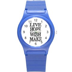 Live Hope Wish Make Plastic Sport Watch (small) by AlfredFoxArt