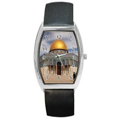 The Dome Of The Rock  Tonneau Leather Watch