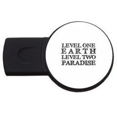 Level One Earth 1GB USB Flash Drive (Round) by AlfredFoxArt