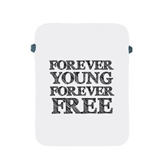 Forever Young Apple iPad Protective Sleeve by AlfredFoxArt