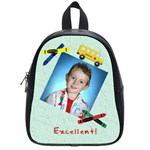 Crayons and Bus School Backpack Small - School Bag (Small)