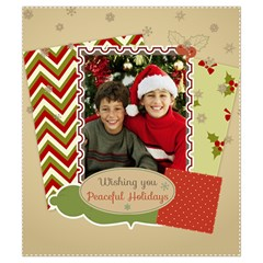 Merry Christmas By Merry Christmas   Drawstring Pouch (small)   Zswkr43wyy5a   Www Artscow Com Back