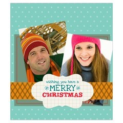 Merry Christmas By Merry Christmas   Drawstring Pouch (small)   Zwfwp8k3on3o   Www Artscow Com Back