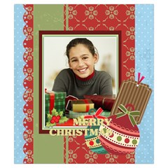 Merry Christmas By Merry Christmas   Drawstring Pouch (small)   Zaaqlh7swsrz   Www Artscow Com Back