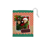 merry christmas - Drawstring Pouch (Small)