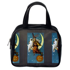 Vintage Halloween Witch Classic Handbag (One Side) by EndlessVintage