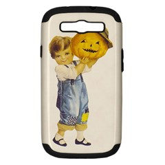 Vintage Halloween Child Samsung Galaxy S III Hardshell Case (PC+Silicone) by EndlessVintage
