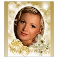 Gold Merry Christmas Drawstring Pouch (medium) By Deborah   Drawstring Pouch (medium)   Xv2aftu32vta   Www Artscow Com Front