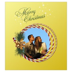 Christmas Joy Drawstring Pouch (large) By Deborah   Drawstring Pouch (large)   Bj050srm3blq   Www Artscow Com Front