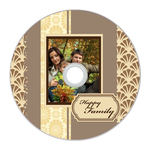 Kids By Family   Cd Wall Clock   O0wlht61wdni   Www Artscow Com Front