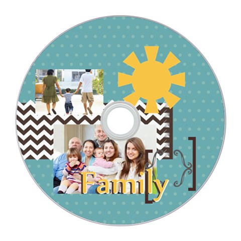 Kids By Family   Cd Wall Clock   3jcn1cju3a64   Www Artscow Com Front